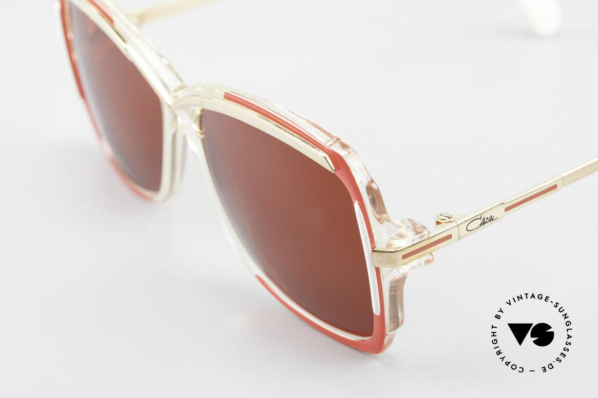 Cazal 177 3D Red Designer Sunglasses, new old stock (like all our rare vintage eyeglasses), Made for Women