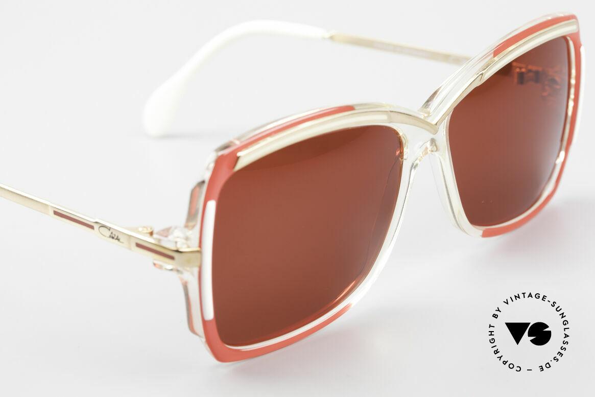 Cazal 177 3D Red Designer Sunglasses, NO RETRO fashion; Cazal original in SMALL size!, Made for Women