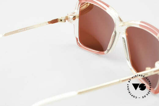 Cazal 177 3D Red Designer Sunglasses, gaudy 3D red sun lenses can be replaced optionally, Made for Women