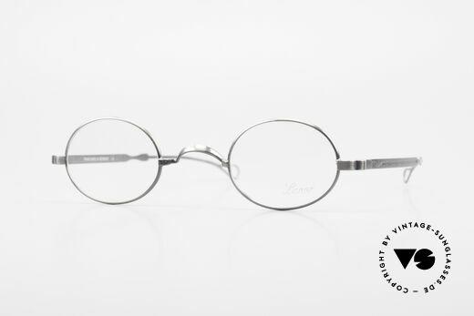 Lunor Oval T-22 Titanium Vintage Eyeglasses Details