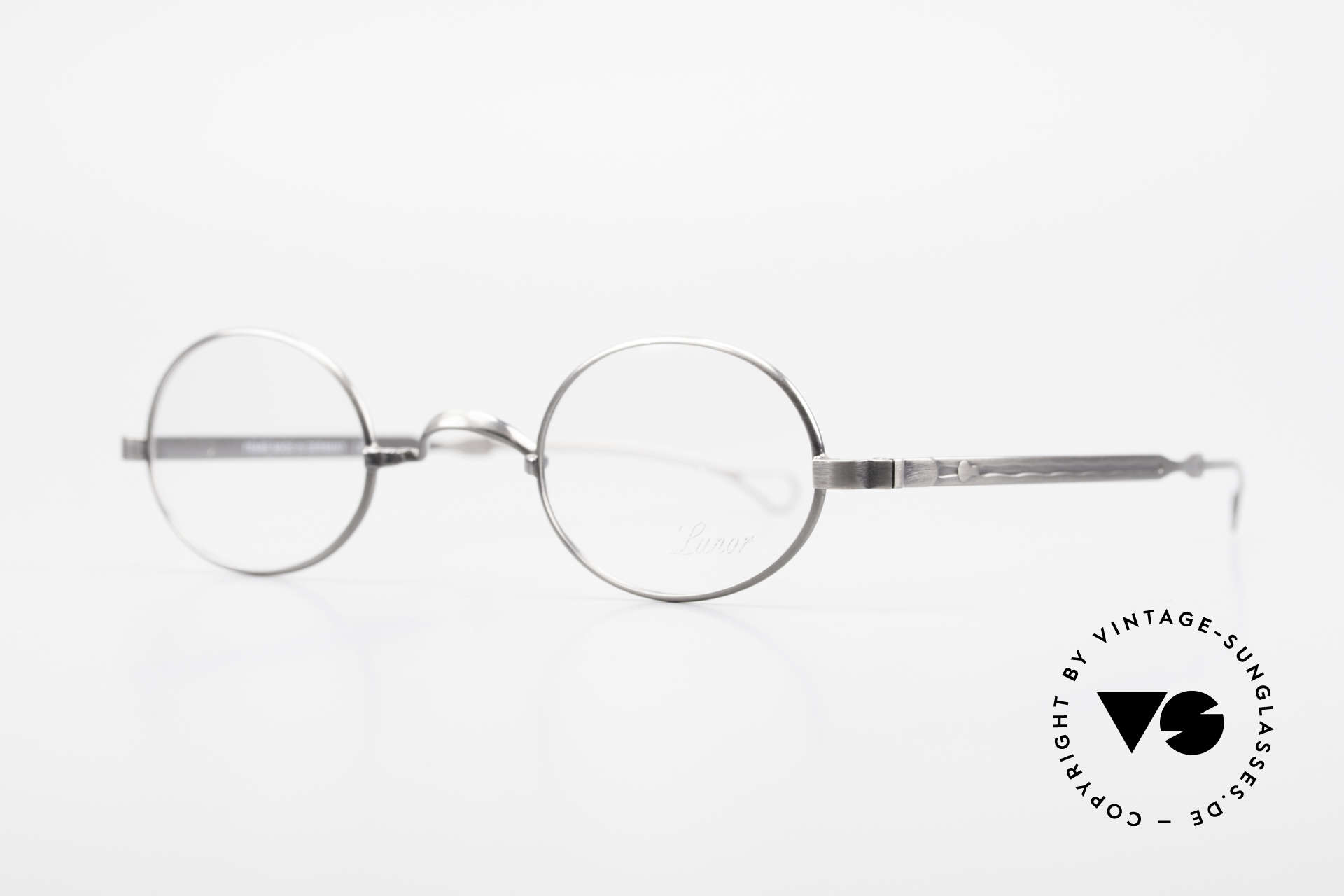 "Lunor Oval T-22 Titanium Vintage Eyeglasses, well-known for the ""W-bridge"" & the plain frame designs, Made for Men and Women"