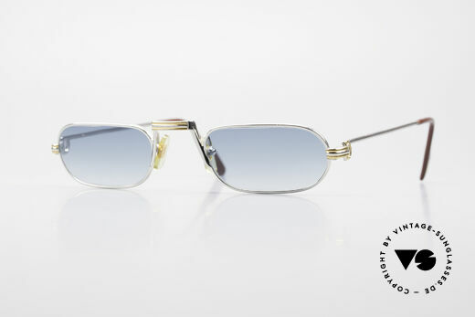 Cartier Demi Lune LC Platinum Reading Frame 1987 Details