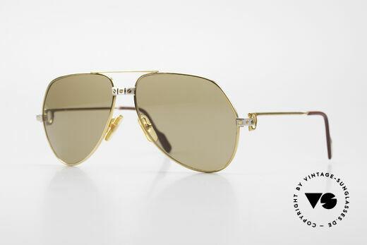 Cartier Vendome Santos - M 80's James Bond Sunglasses Details