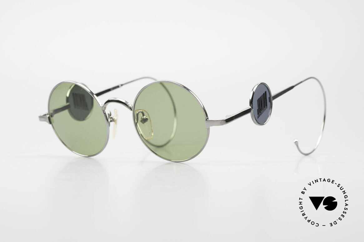 Jean Paul Gaultier 58-0103 4lens Design With Side Shields, very creative vintage sunglasses by Jean Paul Gaultier, Made for Men and Women