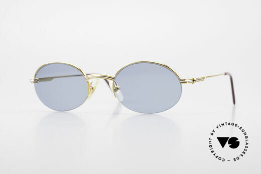 Cartier Manhattan Oval Luxury Sunglasses 90's Details