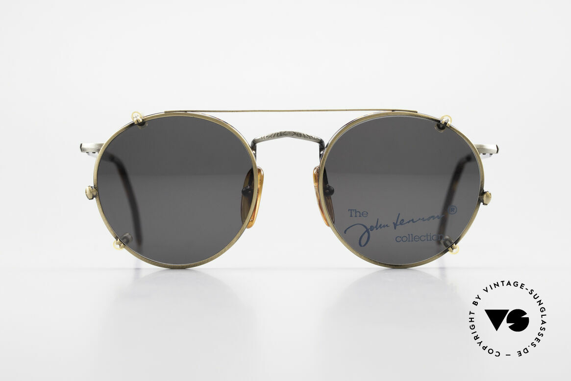 John Lennon - Imagine Panto Glasses With Clip On, model 'IMAGINE': panto sunglasses in small 49mm size, Made for Men and Women