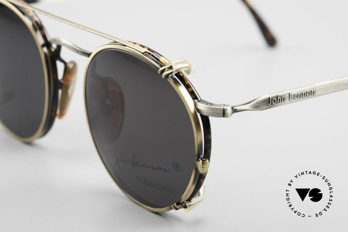John Lennon - Imagine Panto Glasses With Clip On, frame = antique metal / chestnut; Clip-on = antique gold, Made for Men and Women