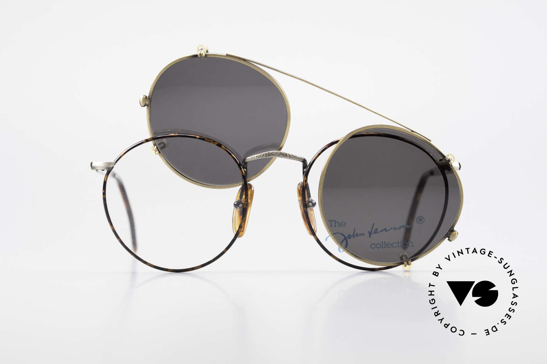 John Lennon - Imagine Panto Glasses With Clip On, NO RETRO PANTO SUNGLASSES; but a rare old ORIGINAL, Made for Men and Women