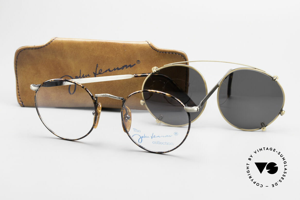 John Lennon - Imagine Panto Glasses With Clip On, 122mm frame width = SMALL SIZE; 49mm lens diagonal, Made for Men and Women