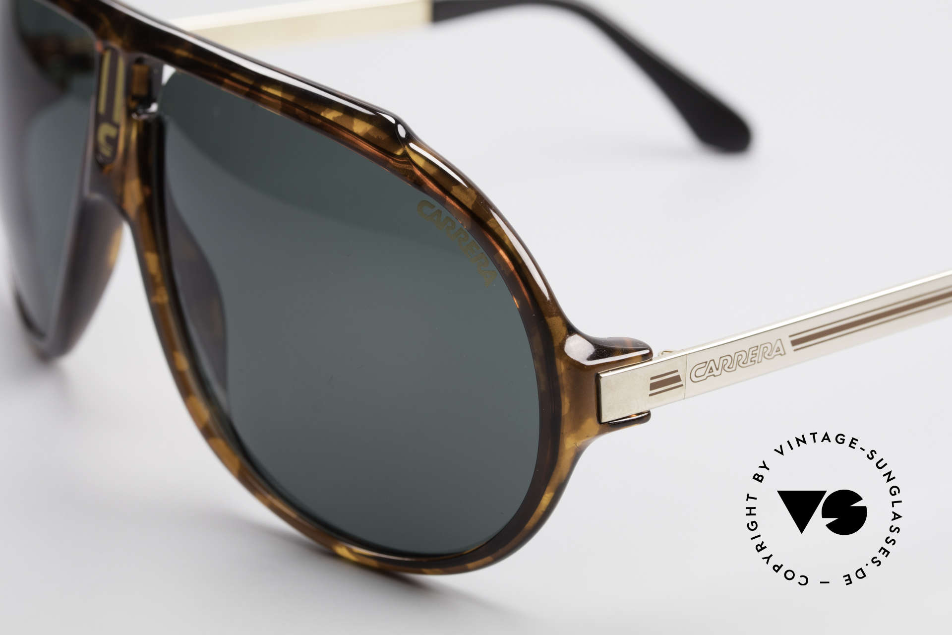 Carrera 5512 80's Sunglasses Don Johnson, unworn rarity with dark green Carrera lenses (100% UV), Made for Men