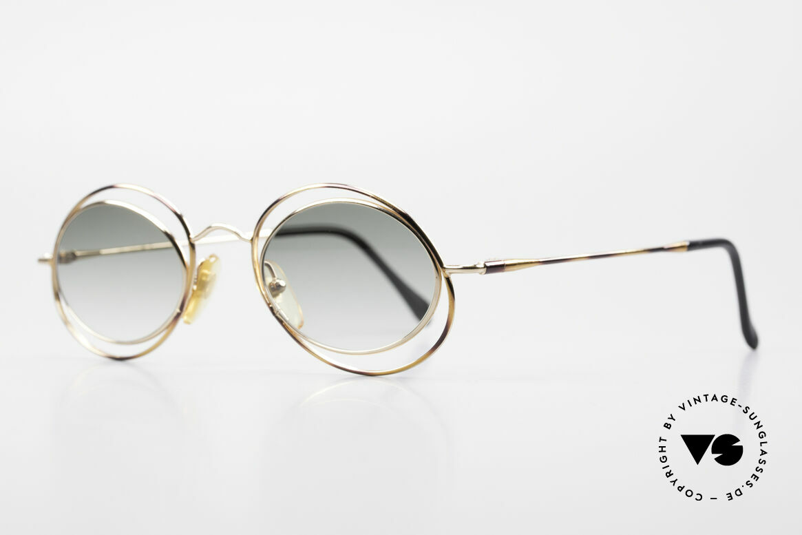 "Casanova LC16 Enchanting Ladies Sunglasses, terrific frame pattern in gold, bronze and ""tortoise"", Made for Women"