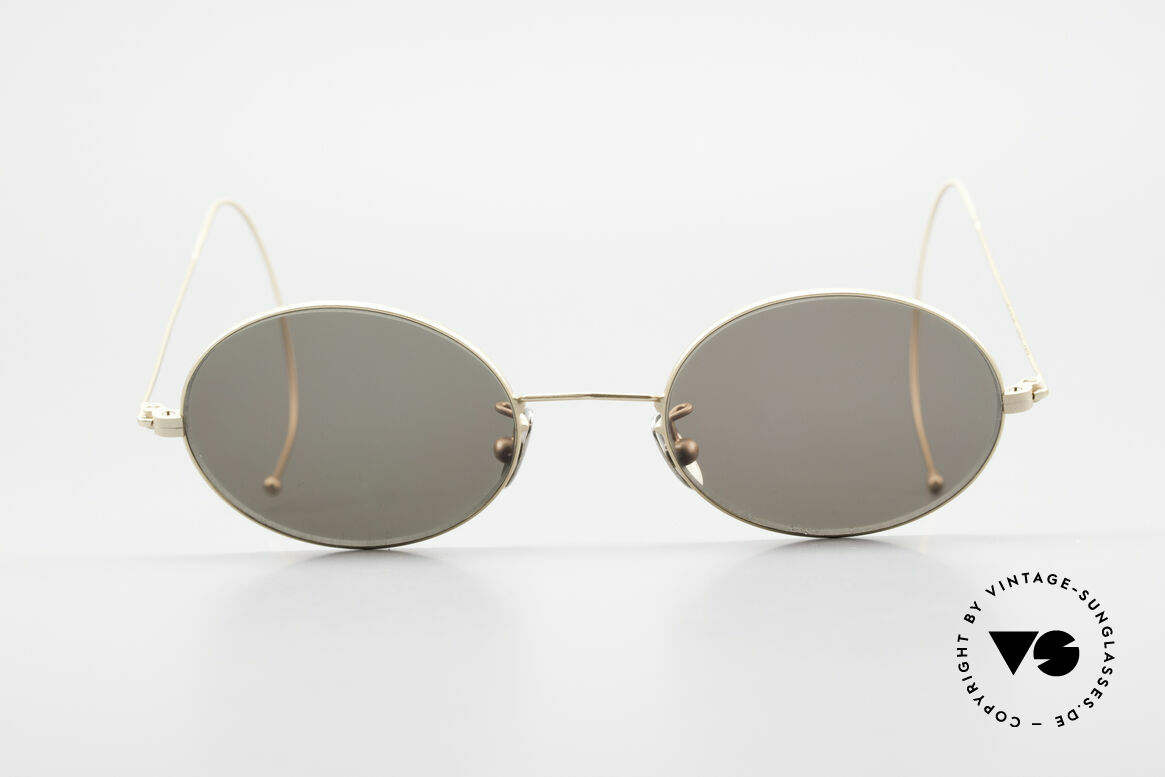 Cutler And Gross 0410 Oval Frame With Sports Temples, classic, timeless UNDERSTATEMENT luxury sunglasses, Made for Men and Women