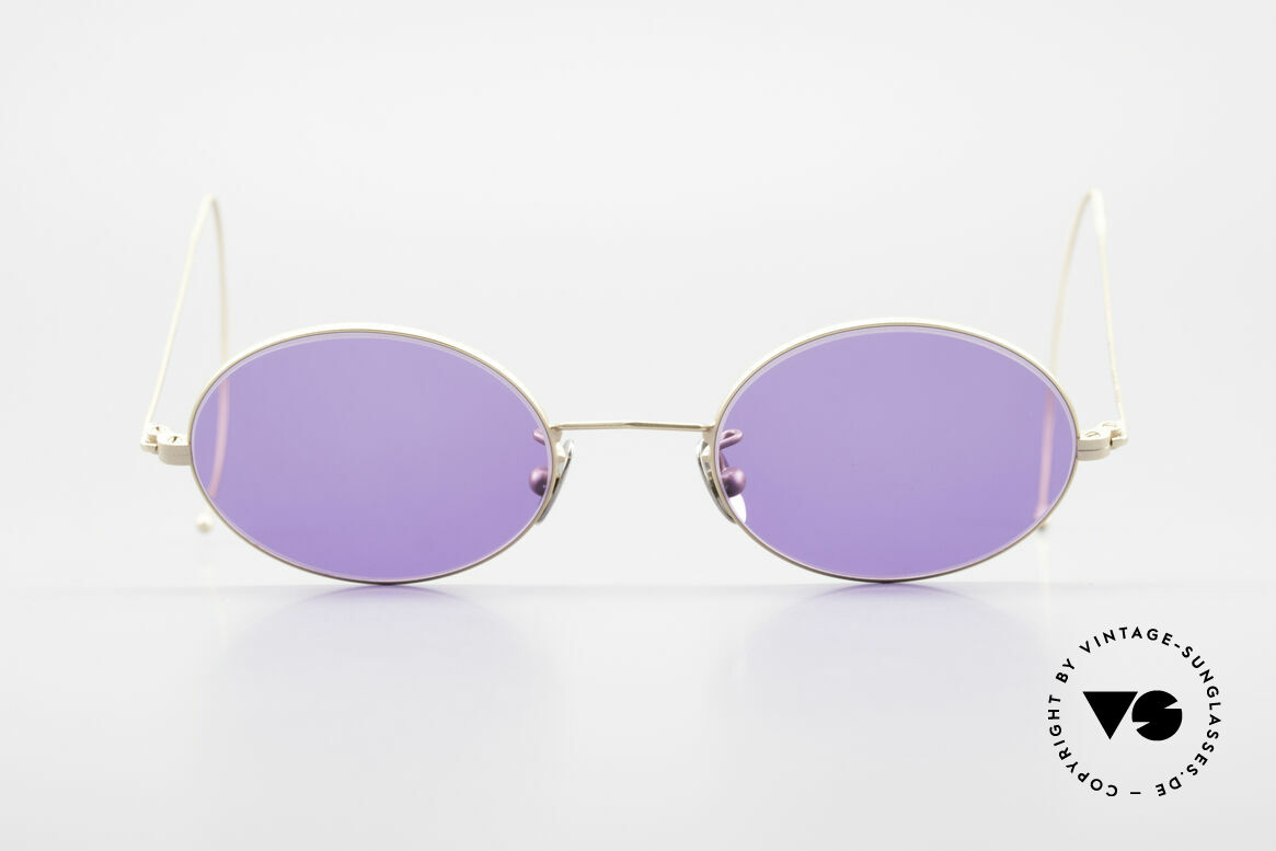 Cutler And Gross 0410 Oval Sunglasses Sports Temples, classic, timeless UNDERSTATEMENT luxury sunglasses, Made for Men and Women