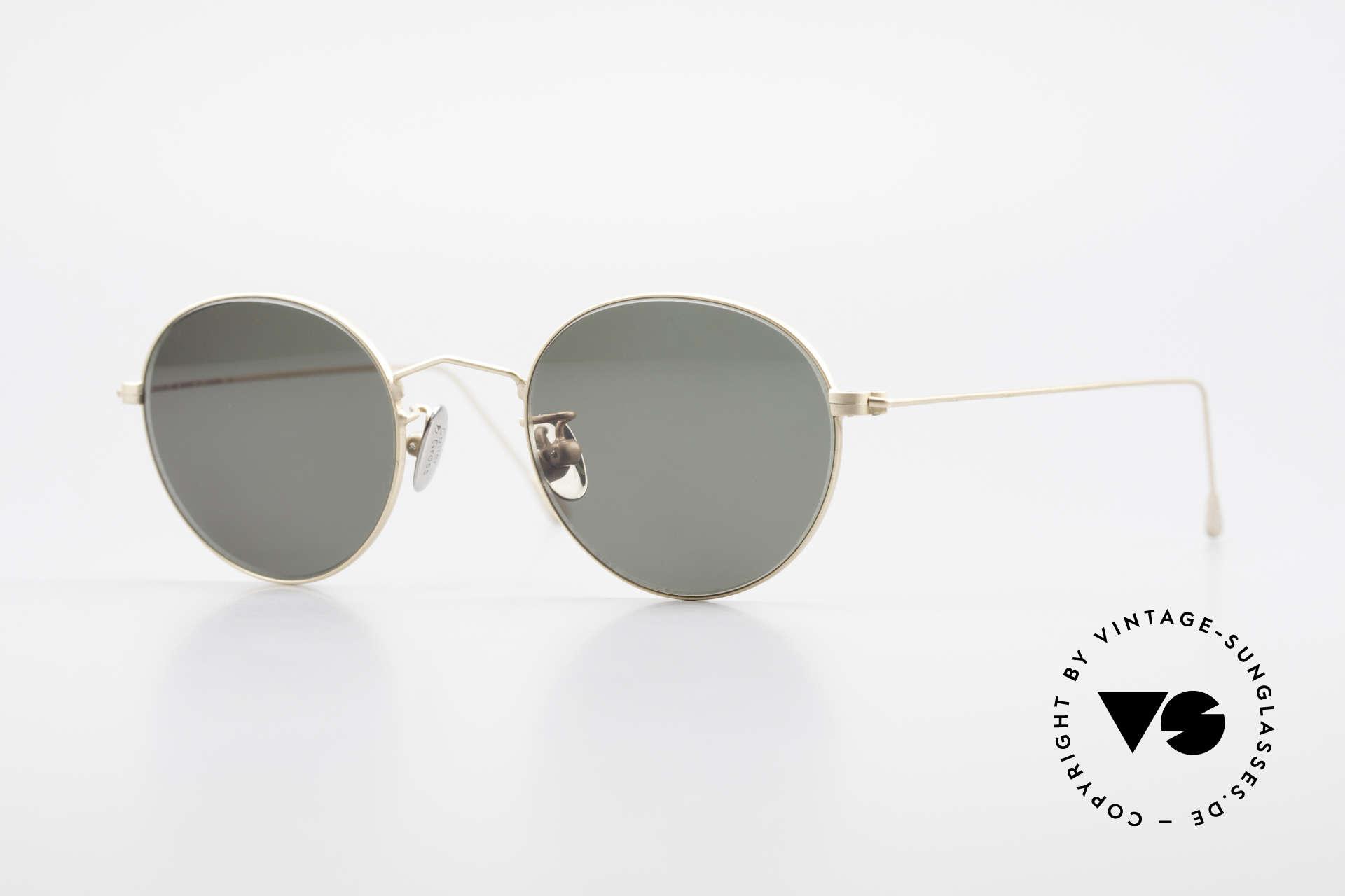 Cutler And Gross 0369 90's Panto Designer Sunglasses, CUTLER and GROSS designer shades from the late 90's, Made for Men and Women