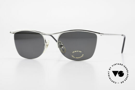 Cutler And Gross 0422 Half Rimless Sunglasses 90's Details