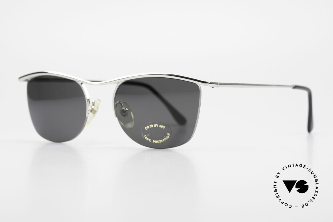 Cutler And Gross 0422 Half Rimless Sunglasses 90's, stylish & distinctive in absence of an ostentatious logo, Made for Men and Women