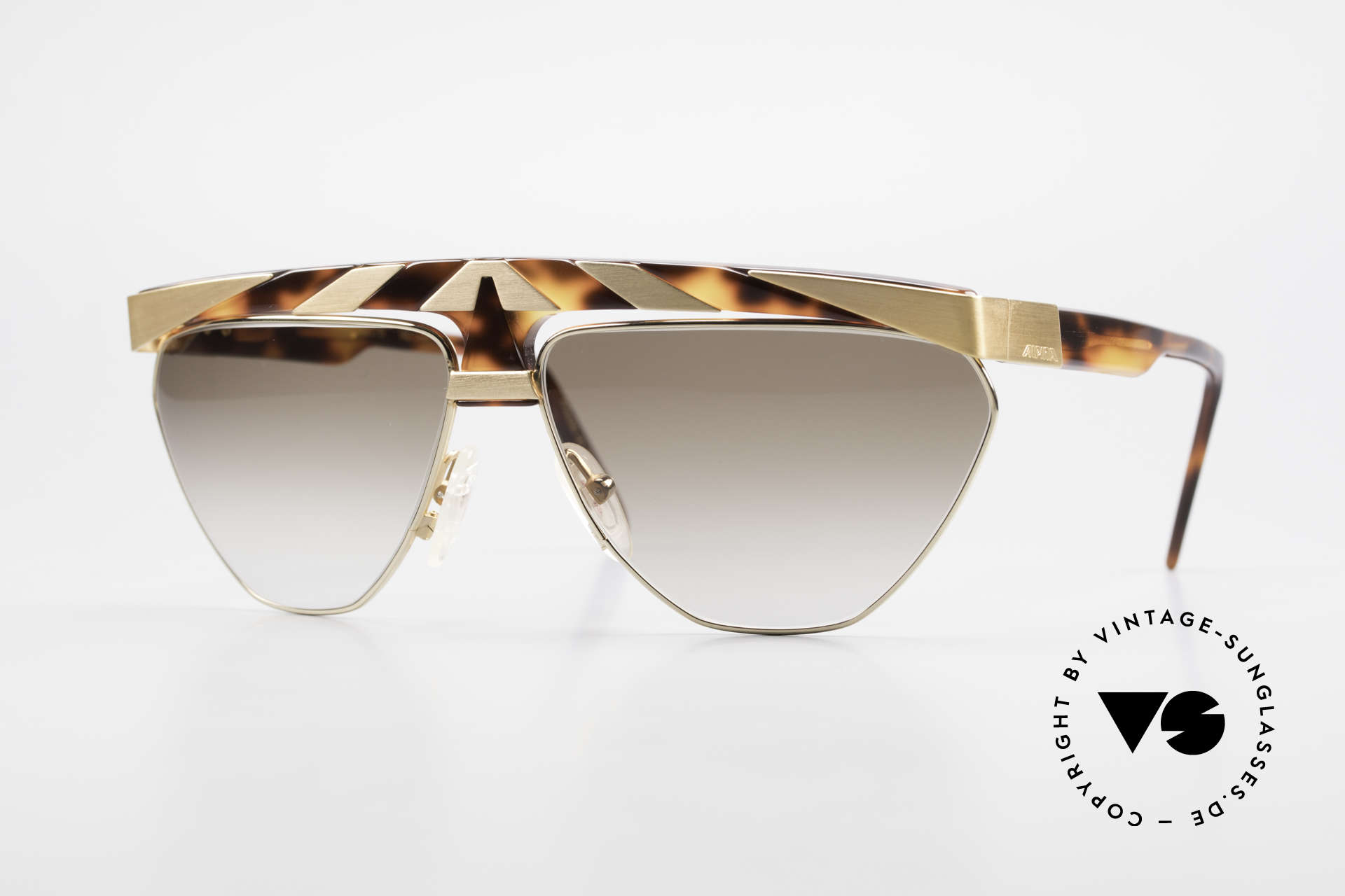 Alpina G84 80's Sunglasses Gold Plated, vintage model from the 'Genesis Project' by Alpina, Made for Men and Women