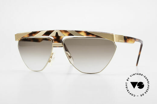 Alpina G84 80's Sunglasses Gold Plated Details