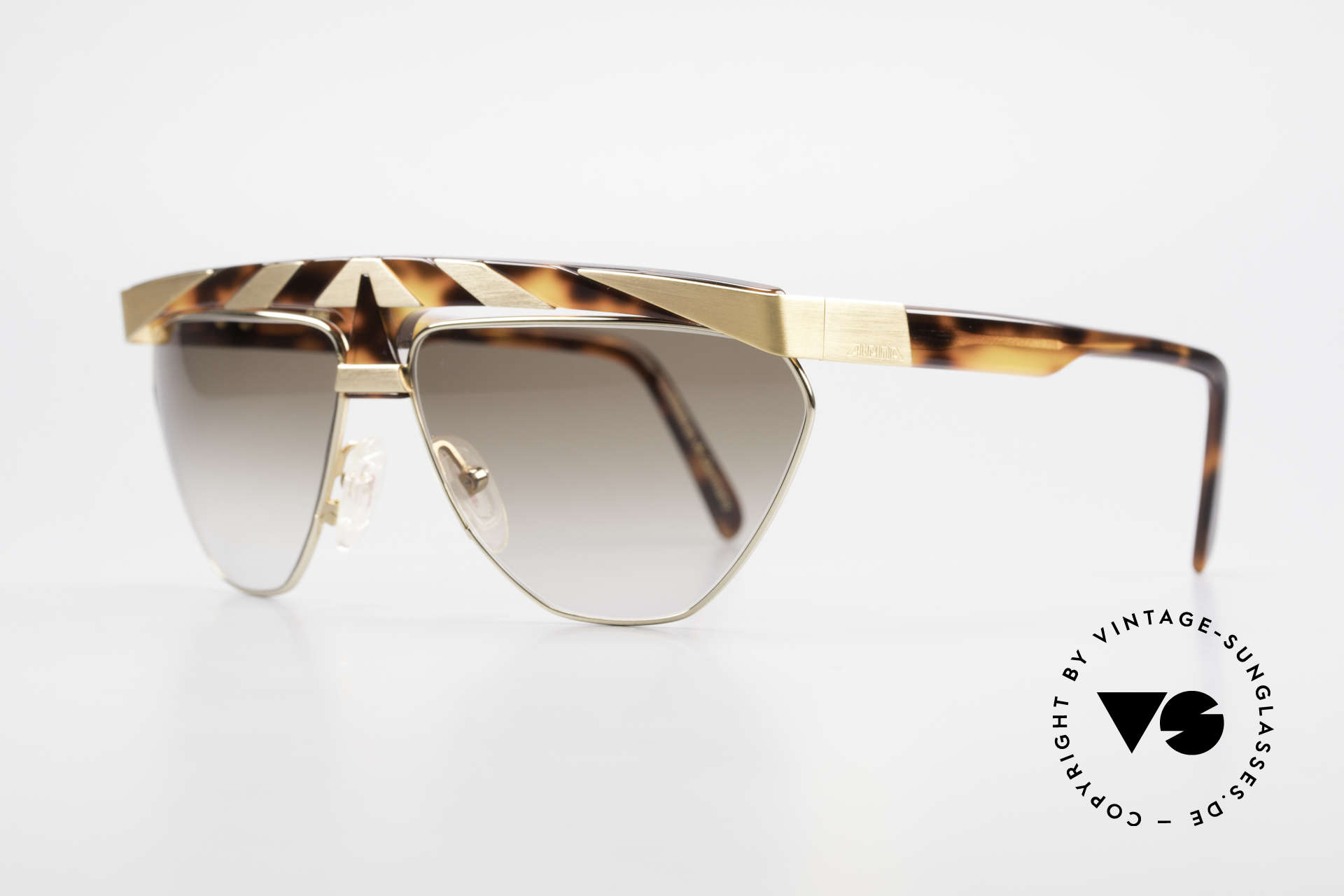 Alpina G84 80's Sunglasses Gold Plated, rare original from the 80's (handmade in W.Germany), Made for Men and Women