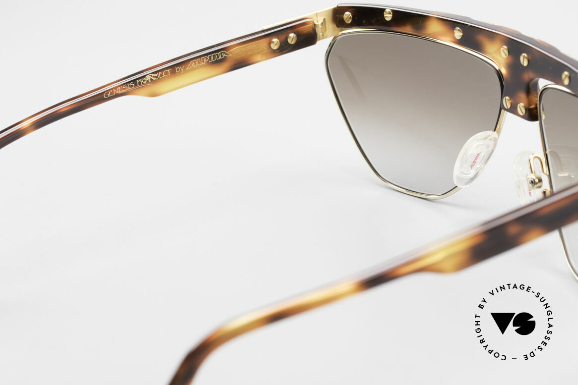Alpina G84 80's Sunglasses Gold Plated, Size: medium, Made for Men and Women