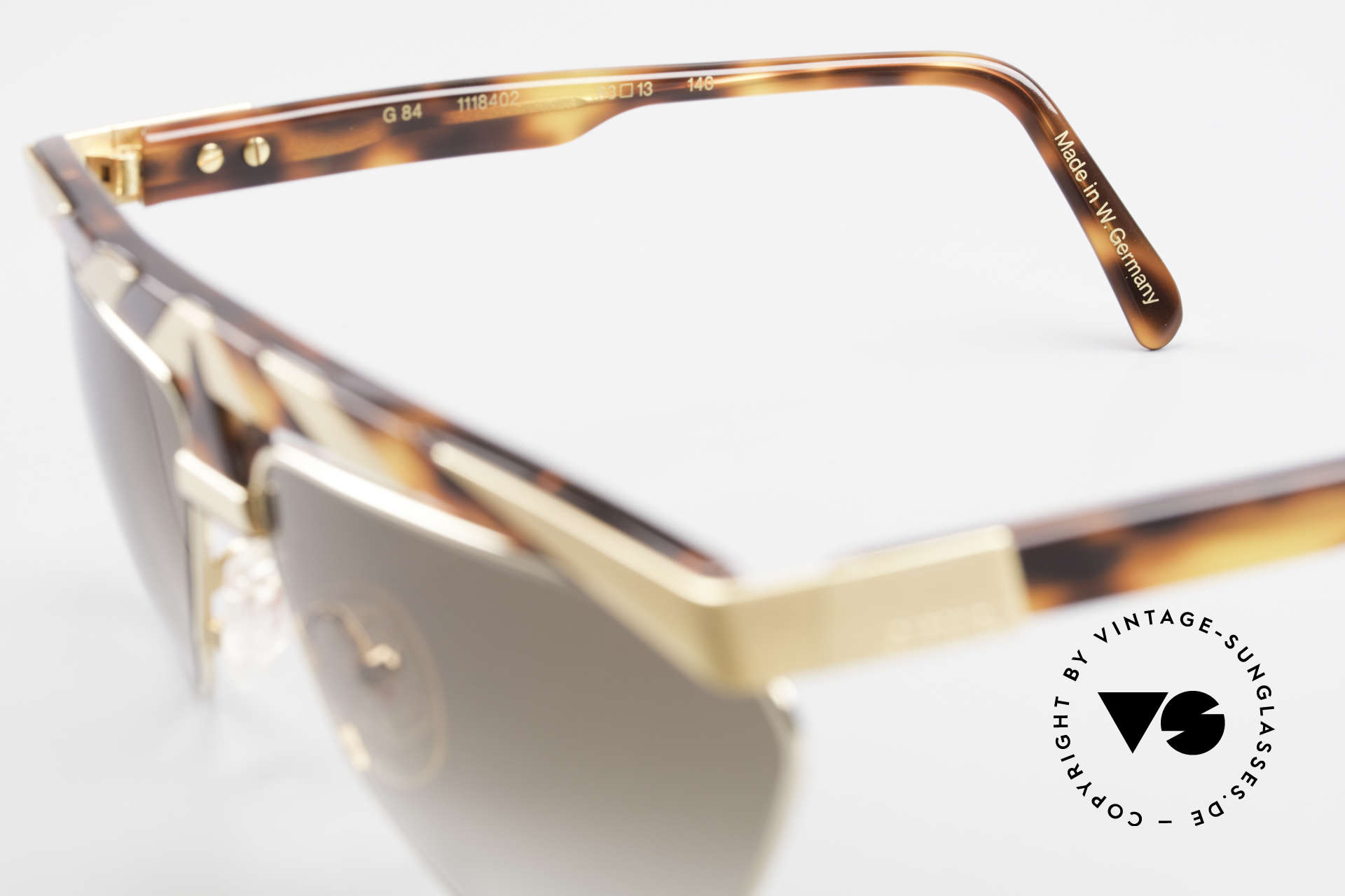 Alpina G84 80's Sunglasses Gold Plated, NO RETRO fashion; but a rare 30 years old ORIGINAL, Made for Men and Women