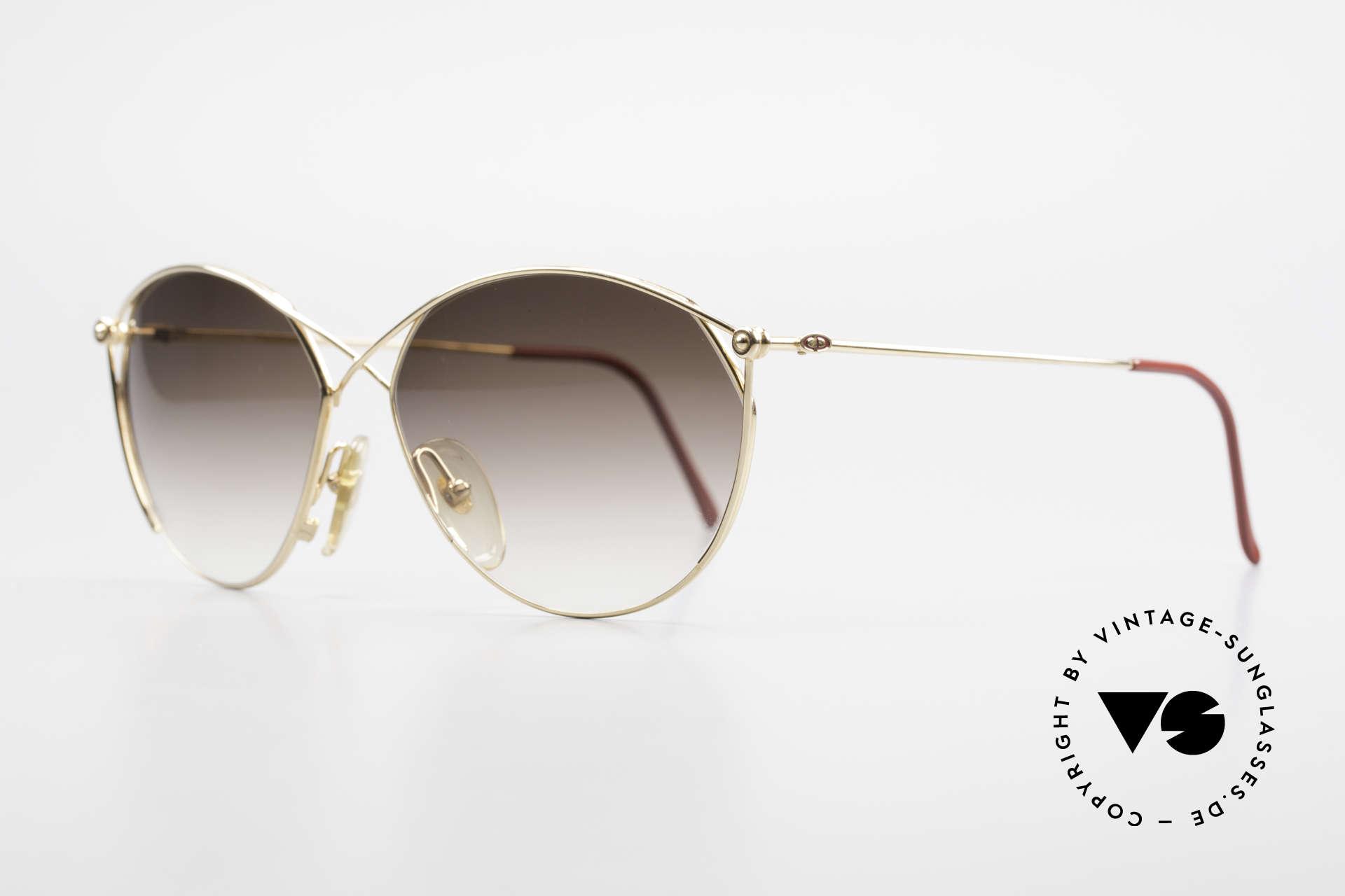 Christian Dior 2390 Ladies Designer Sunglasses, hard GOLD-PLATED metal frame, full of verve!, Made for Women