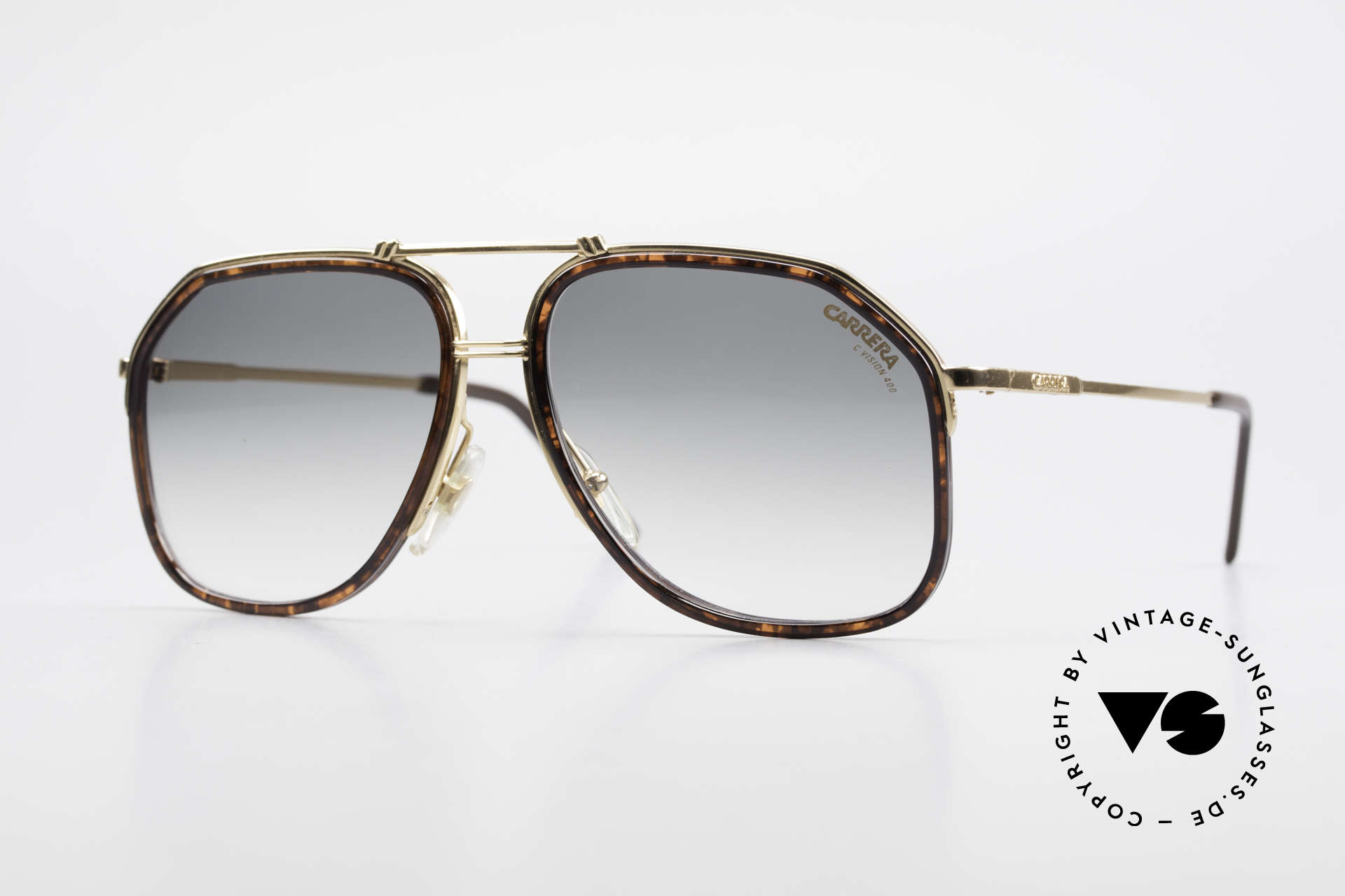 Carrera 5370 Classic Vintage Sunglasses, noble vintage 1990's designer glasses by Carrera, Made for Men