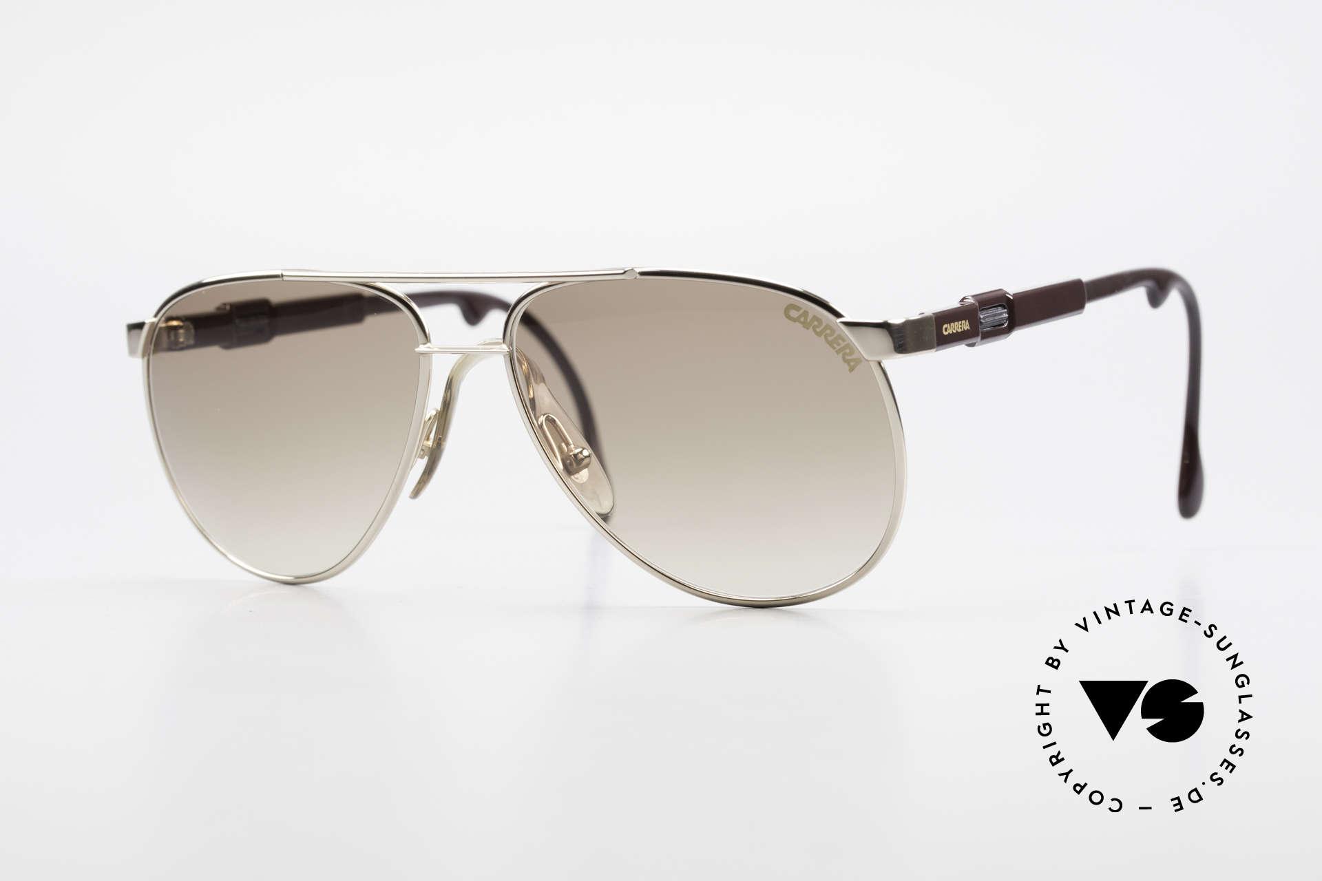 Carrera 5348 80's Vario Sports Sunglasses, brilliant vintage Carrera 80s sunglasses, size 56°15, Made for Men and Women