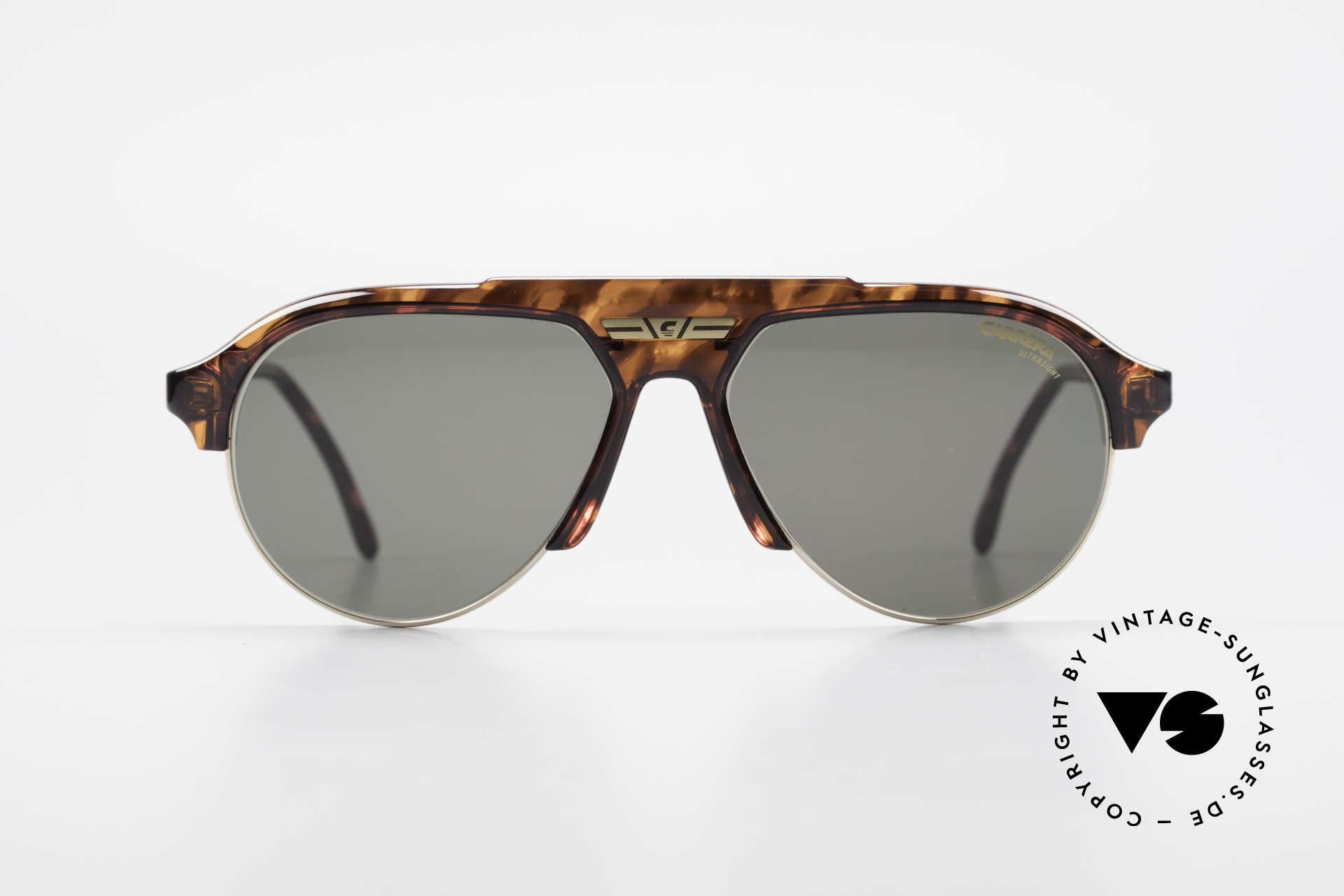 Carrera 5433 Aviator Sunglasses Men 90's, tortoise frame + golden metal rings & CARRERA logo, Made for Men