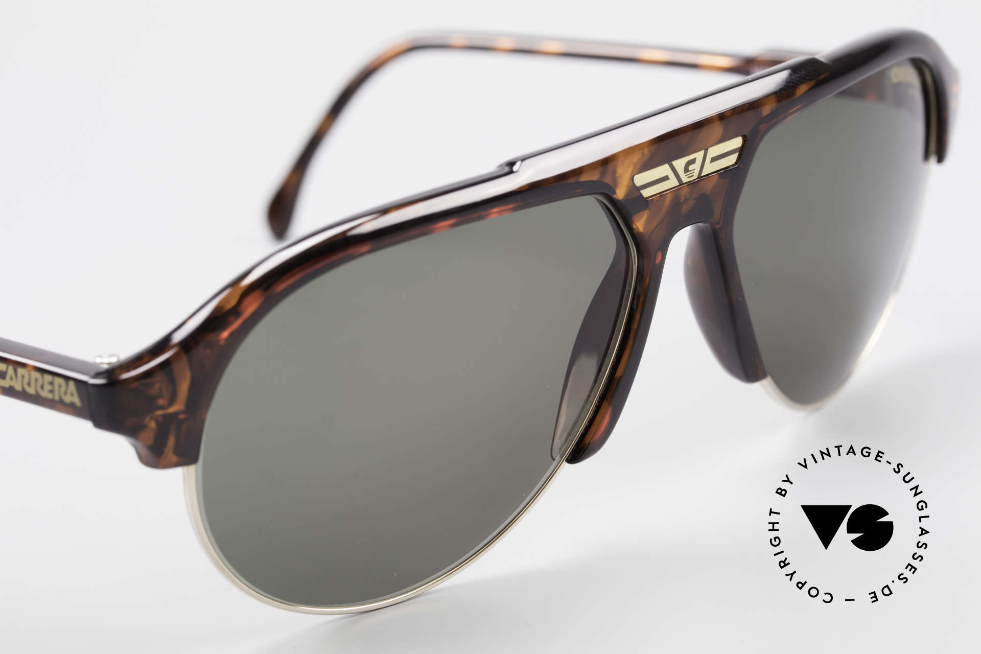 Carrera 5433 Aviator Sunglasses Men 90's, NO RETRO shades, but an app. 25 years old ORIGINAL, Made for Men