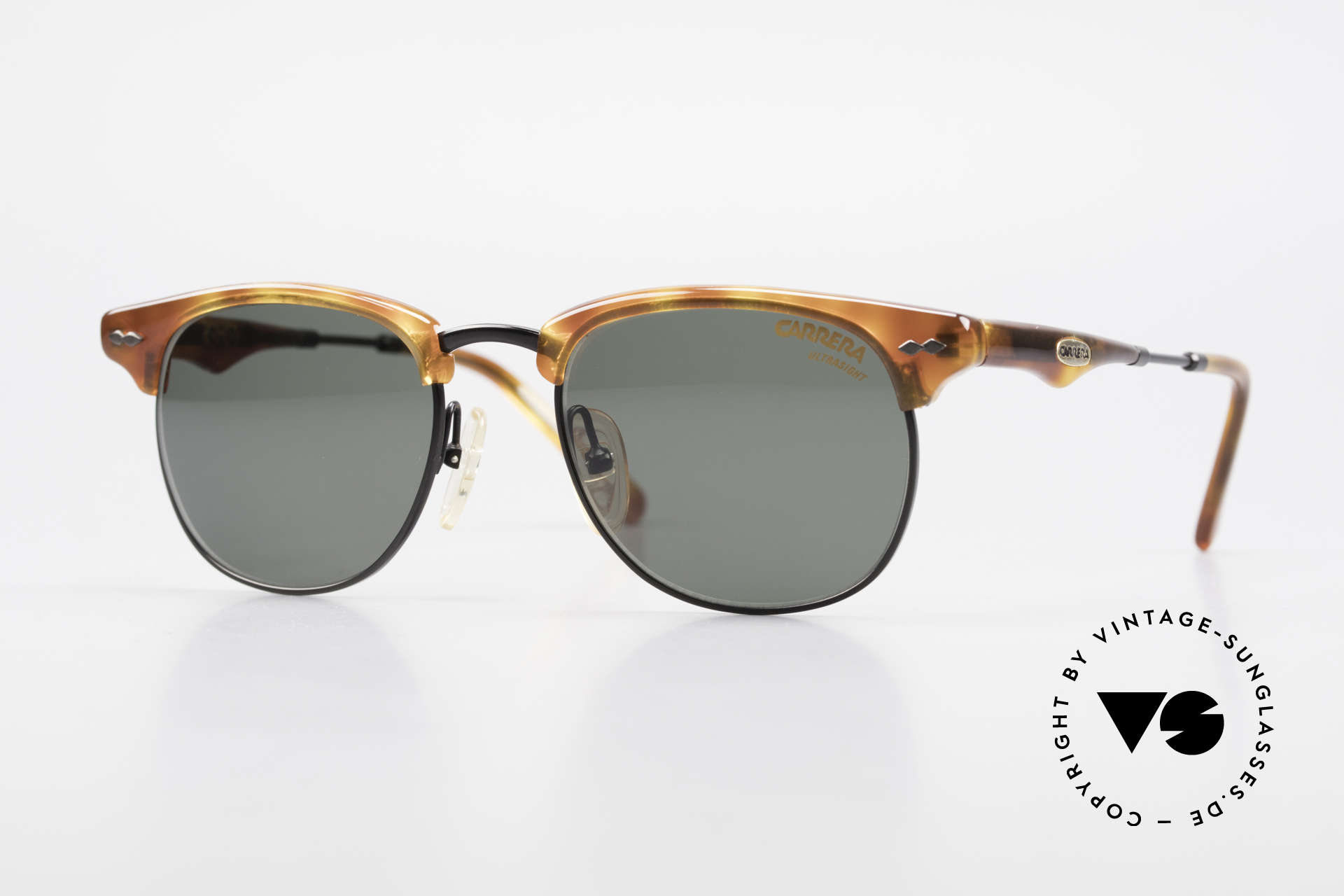 Carrera 5624 Clubmaster Shape Sunglasses, timeless vintage 90's CARRERA designer sunglasses, Made for Men