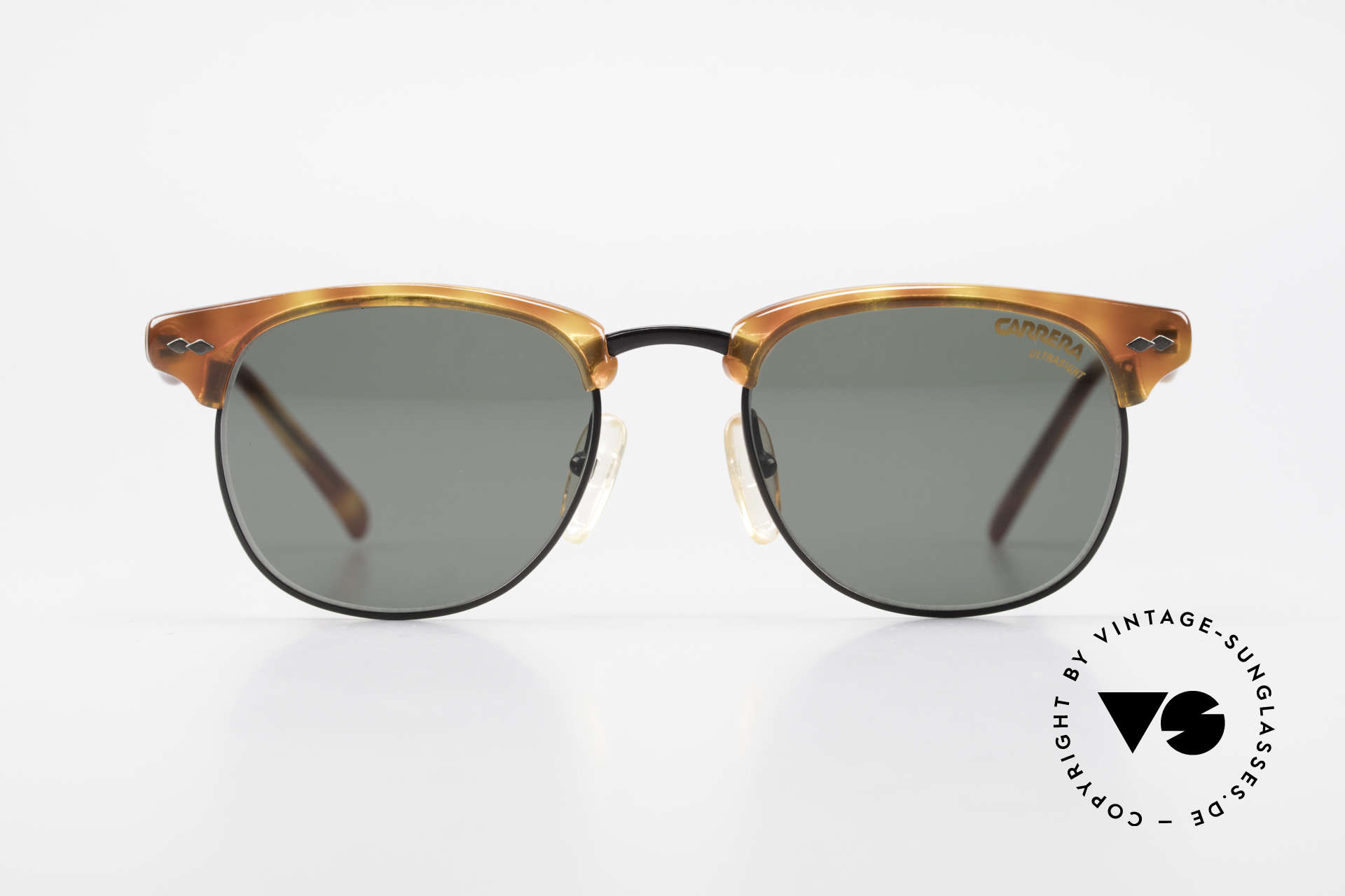 Carrera 5624 Clubmaster Shape Sunglasses, a real classic: famous 'panto'-design (simply elegant), Made for Men
