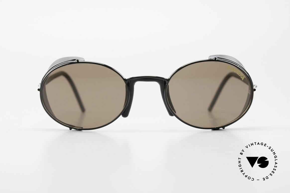 Carrera 5580 Sportsglasses Steampunk 90's, dull-black frame + original Carrera plastic sun lenses, Made for Men and Women