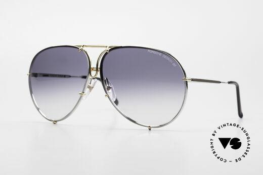 Porsche 5623 Silver Mirrored Sun Lenses Details