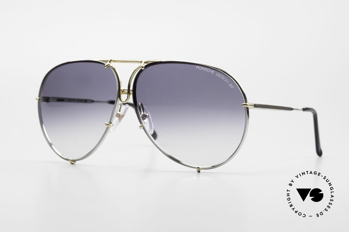 Porsche 5623 Silver Mirrored Sun Lenses, vintage Porsche Design by Carrera shades from 1987, Made for Men and Women