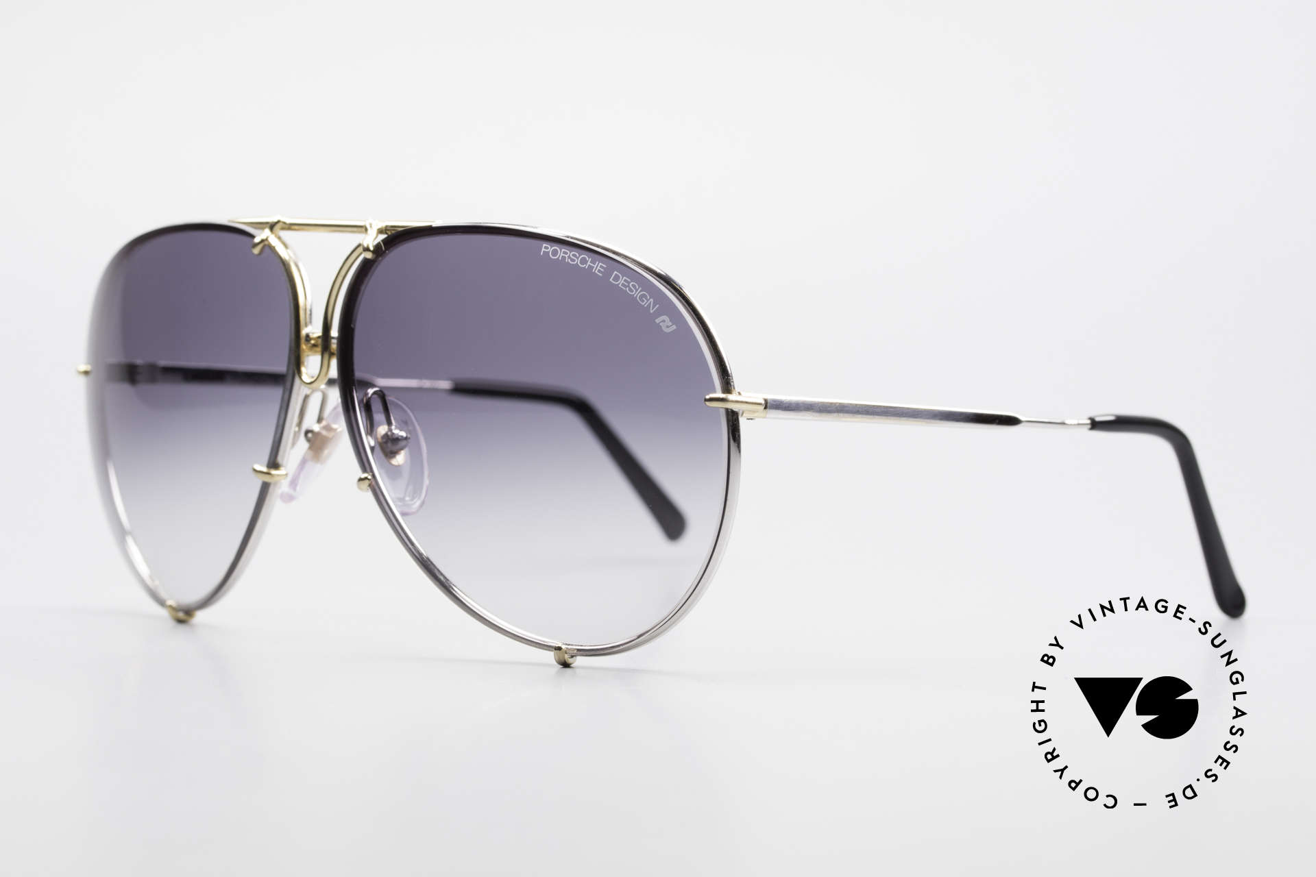 Porsche 5623 Silver Mirrored Sun Lenses, SILVER MIRRORED lenses appear gray on the photos, Made for Men and Women