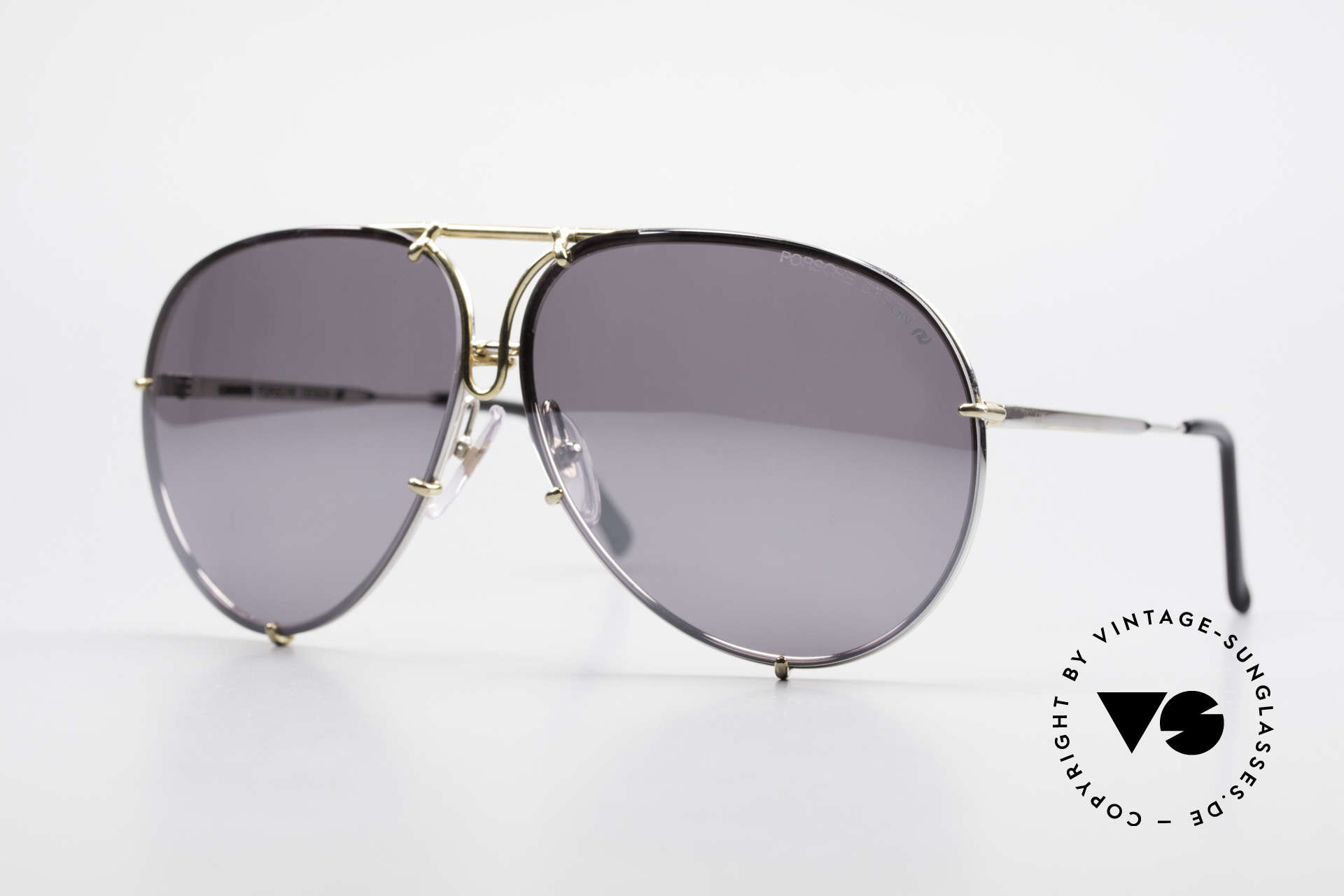 Porsche 5623 Silver Mirrored Sun Lenses, unworn rarity + orig. Porsche case (collector's item), Made for Men and Women