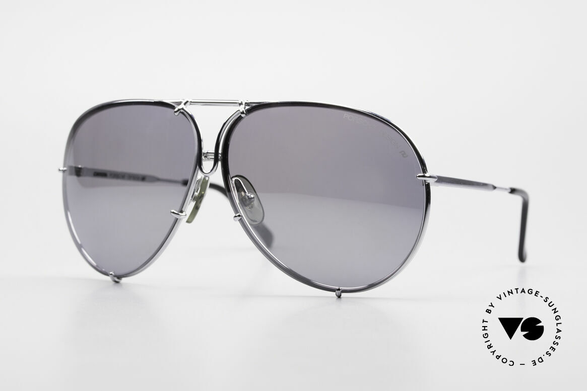 Porsche 5623 Silver Mirrored Sun Lenses, vintage Porsche Design by Carrera shades from 1987, Made for Men and Women