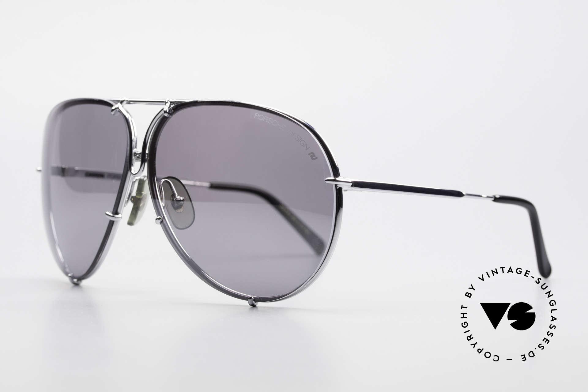 Porsche 5623 Silver Mirrored Sun Lenses, SILVER MIRRORED lenses appear gray on the photos, Made for Men and Women