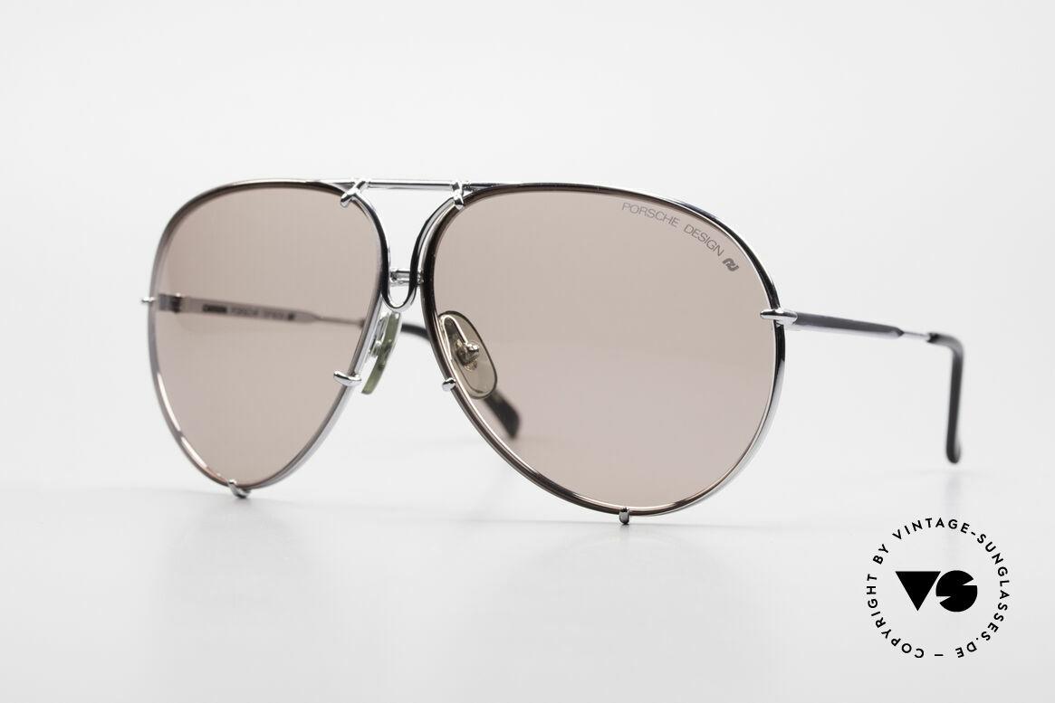Porsche 5623 Silver Mirrored Sun Lenses, unworn rarity + orig. Porsche case (collector's item), Made for Men and Women