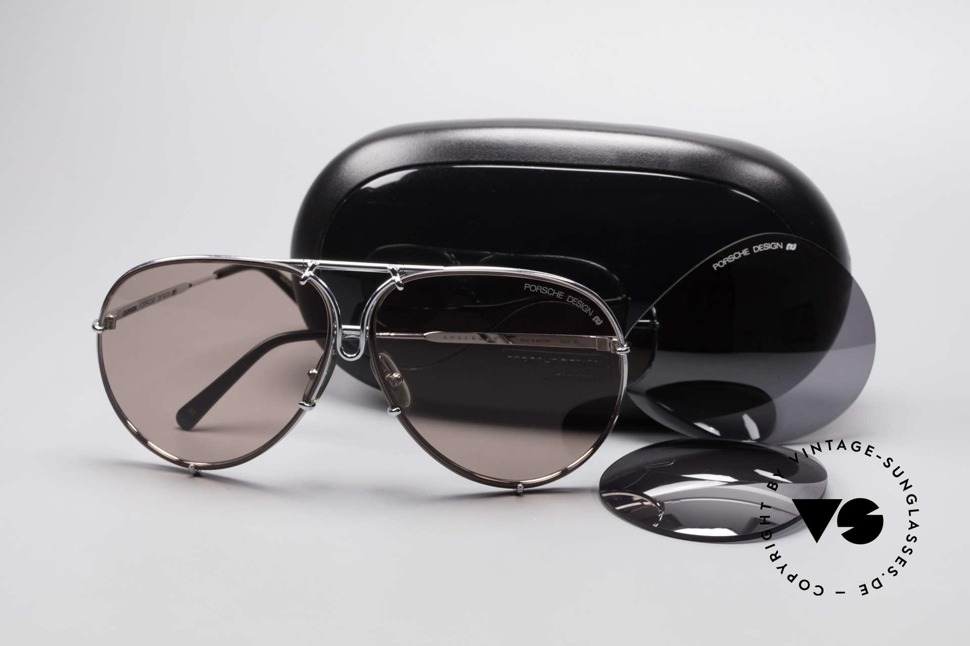 Porsche 5623 Silver Mirrored Sun Lenses, NO RETRO SUNGLASSES, but a 30 years old original, Made for Men and Women