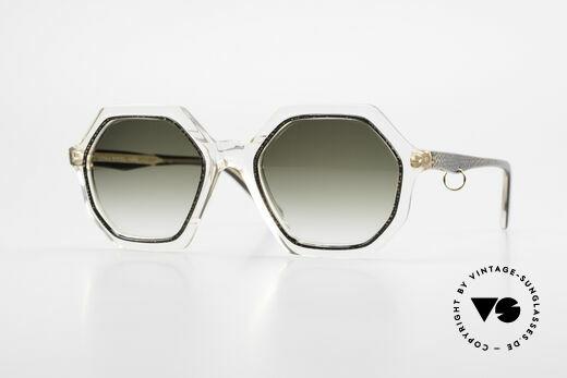 Sonia Rykiel SR46 727 70's Octagonal Sunglasses Details