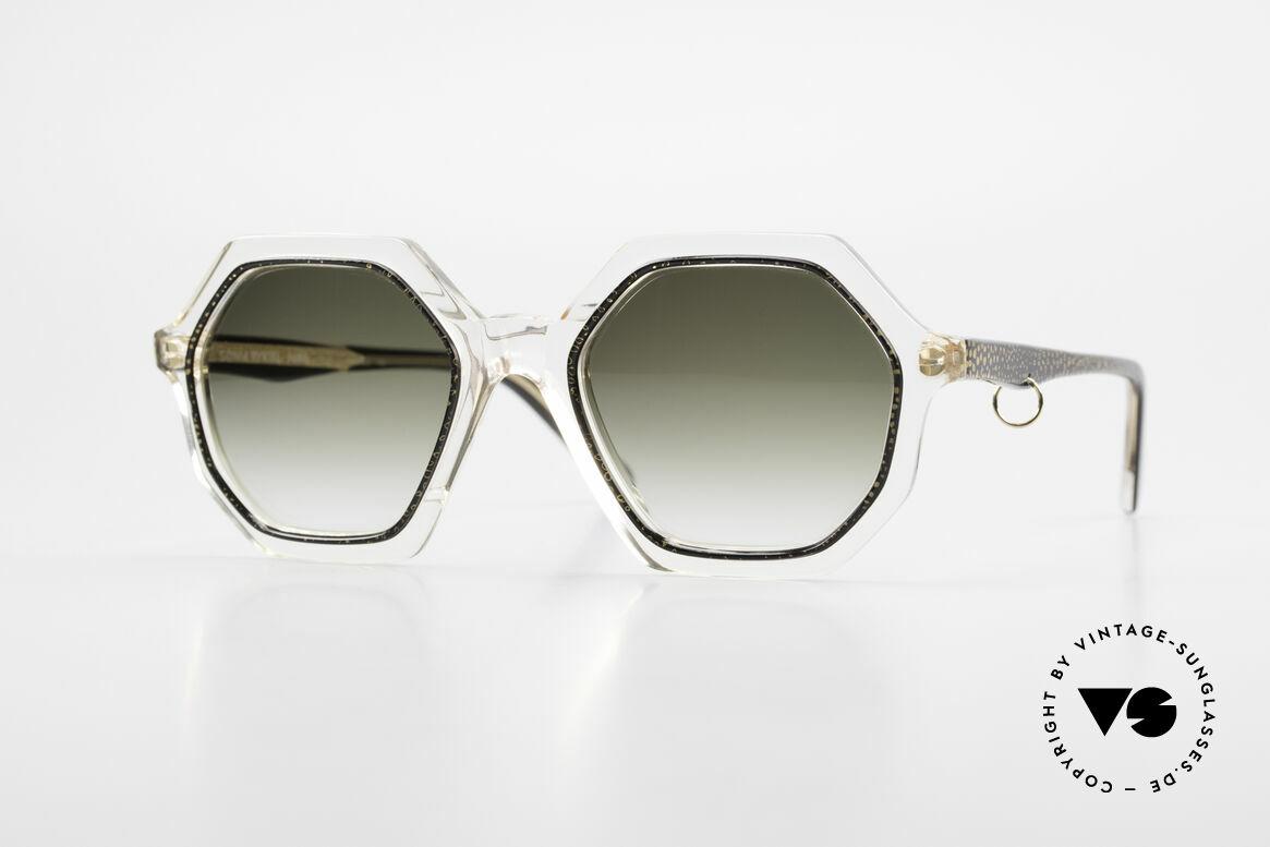 Sonia Rykiel SR46 727 70's Octagonal Sunglasses, fancy, octagonal sunglasses of the 70's by Sonia Rykiel, Made for Women