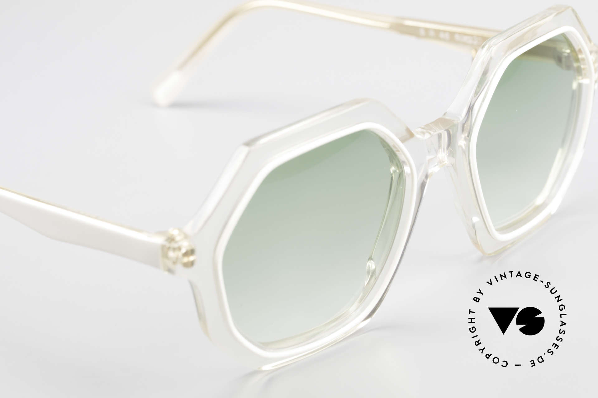 Sonia Rykiel SR46 444 Octagonal Sunglasses 1970's, NO RETRO fashion, but a genuine 40 years old unicum, Made for Women