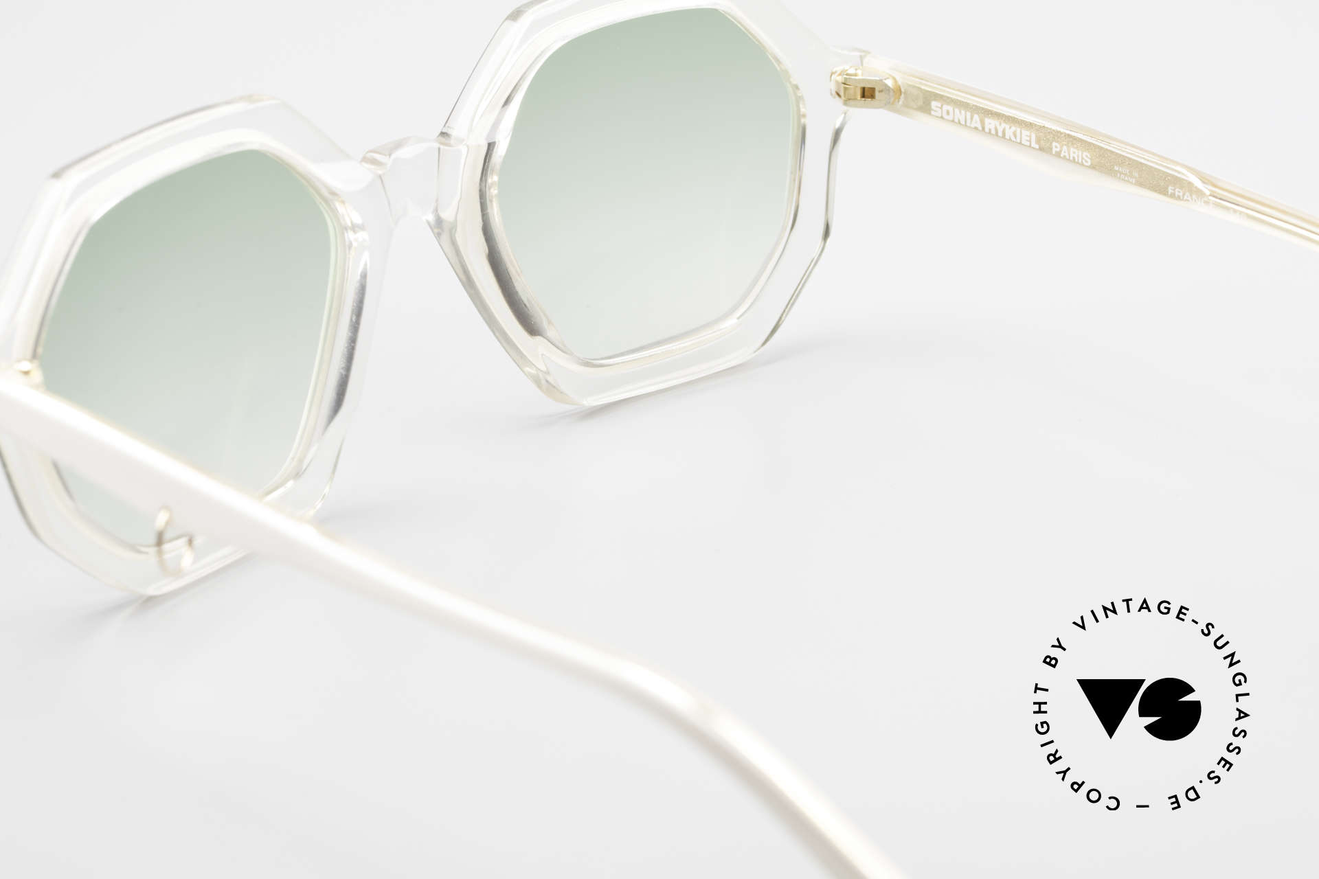 Sonia Rykiel SR46 444 Octagonal Sunglasses 1970's, sun lenses (100% UV) can be replaced with prescriptions, Made for Women