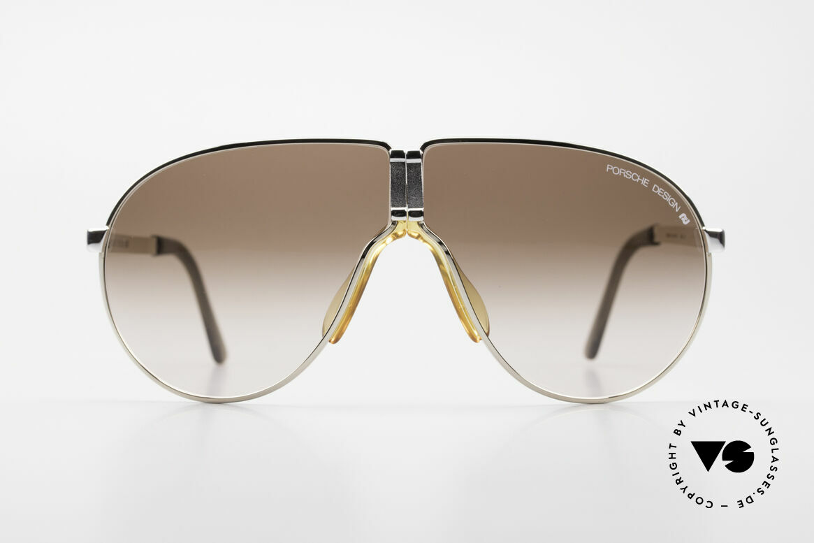 Porsche 5622 Rare 80's Folding Sunglasses, bicolor foldable frame + brown-gradient lenses; a classic, Made for Men
