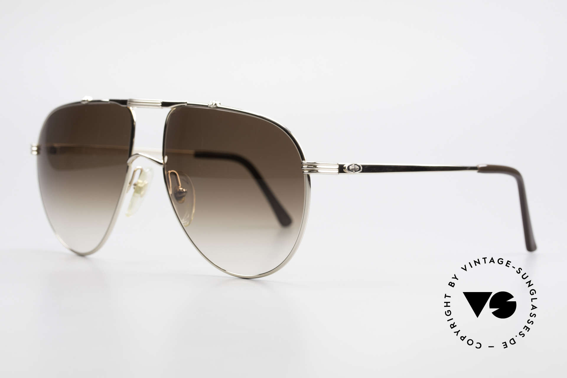 Christian Dior 2248 XL 80's Monsieur Sunglasses, classic aviator design in XL size 60-17 (145mm width), Made for Men