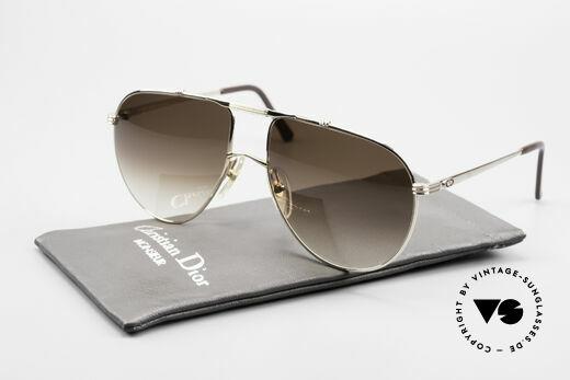 Christian Dior 2248 XL 80's Monsieur Sunglasses, brown-gradient CR39 sun lenses (100% UV protection), Made for Men