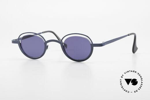 Theo Belgium Dozy Slim Crazy 90's Unisex Sunglasses Details