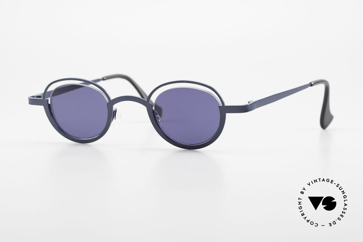 Theo Belgium Dozy Slim Crazy 90's Unisex Sunglasses, vintage THEO Belgium sunglasses from approx. '97, Made for Men and Women